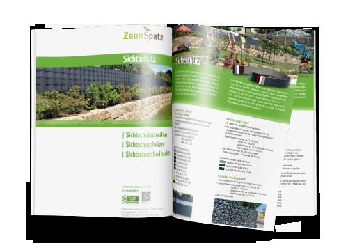 Katalog zum ausdrucken für Sichtschutzzäune