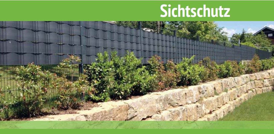 Sichtschutz für Zäune und Sichtschutzstreifen